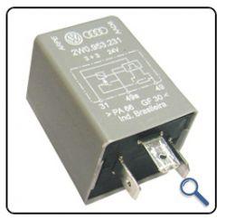 Rele Pisca Onibus 24v (3+3) Sensor  Lampada Queimada