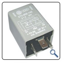Rele de Pisca RP07 24V - Sensor  Lampada Queimada - (2+2) Caminhões