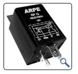 Rele de Pisca RP24S Alta Potência 24V - 600W C/suporte