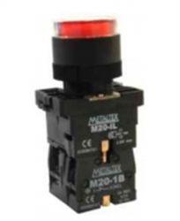 Botão Pulso C/Led Vermelho 220V P20-IFR-R-1C 1NA/NF