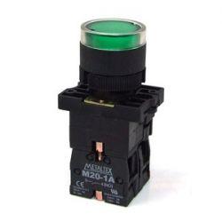 Botão Pulso C/Led Verde 220V P20-IFR-G-1C 1NA/NF