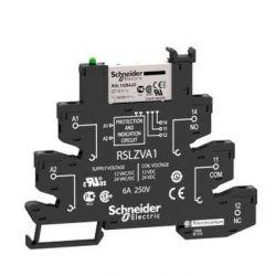 Rele de Interface Slim Schneider RSL1PVFU 1REV. 6A 115VAC/VCC