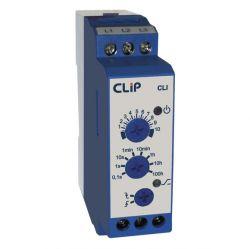 Rele Clip temporizador Pulso (I) na energização CLI 24 a 242 VCA/VCC OU 12VCC/VAC
