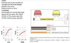 Sinalizador Led vm/am P/Garagem bivolt C/sonoro  PLF-PQ-VM/AM-BIV-CS