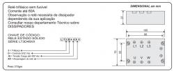 Rele de Estado Sólido Loti Trifasico 60AMP 480VAC  5a32VDC