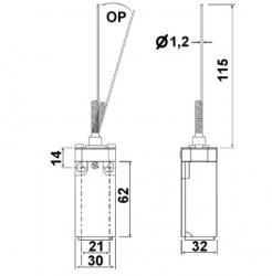 Chave Fim de curso LXK-P106 1NA+1NF