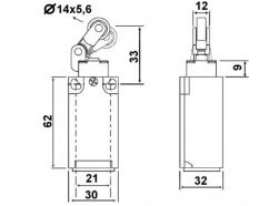 Chave Fim de curso LXK-P121 1NA+1NF