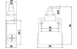 Chave Fim de curso Metalico LXK-M110 1NA+1NF