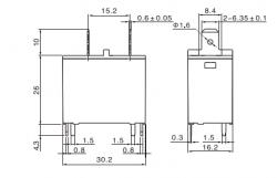 Rele SANYOU SFK112DM SFK-112DM Potência para Ar Condicionado / Microondas 20A  12VDC
