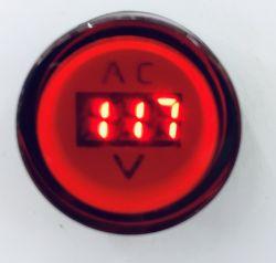Sinaleiro Voltímetro LED  corpo plástico, p/ furos de 22mm, tensões disponíveis 50Vca a 500Vca, Verde ou Vermelho