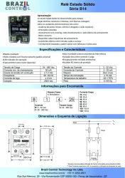 Rele estado solido B14-10  10Amp  Entrada 3-32Vcc - Saida até 480VAC