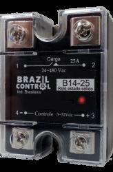 Rele estado solido B14-25  25Amp  Entrada 3-32Vcc - Saida até 480VAC