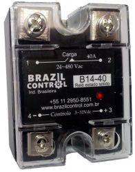 Rele estado solido B14-40 40Amp  Entrada 3-32Vcc - Saida até 480VAC