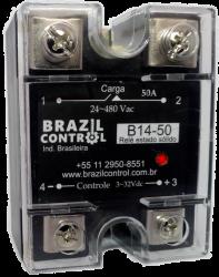 Rele estado solido B14-50 50Amp  Entrada 3-32Vcc - Saida até 480VAC