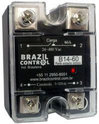 Rele estado solido B14-60 60Amp  Entrada 3-32Vcc - Saida até 480VAC