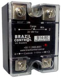Rele estado solido B14-80 80Amp  Entrada 3-32Vcc - Saida até 480VAC