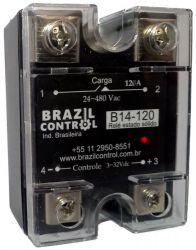 Rele estado solido B14-120 120Amp  Entrada 3-32Vcc - Saida até 480VAC