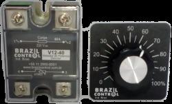 Variador de Potencia Dimmer V12-40 40Amp  Entrada 470K - Saida cargas  220Vac