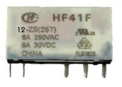 Rele  slim HF41F  1Rev. 6mm  6A   12VCC OU 24VCC
