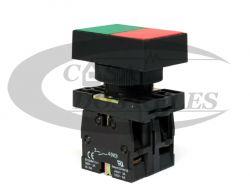 Botão Duplo C/Capa Verde/Vermelho 1NA+1NF XBE-EL9325