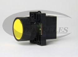 Botão de Pulso Amarelo  LAY5-EA51 1A 1NA
