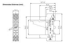 Relé interface MKB 2 contatos reversores 8A 250 Vca - Bobina 12Vcc