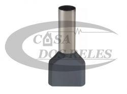 TERMINAL PRE-ISOL.  0,75MM  ILHOS CINZA DUPLO PZ-TE7508 PCT C/100