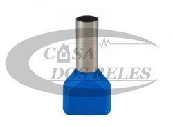 TERMINAL PRE-ISOL. 16MM  ILHOS AZUL DUPLO PZ-TE1614 PCT C/10