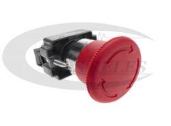 Botão Cogumelo Comando de Emergência Plastico C/Trava  N/C LAY5-ES54