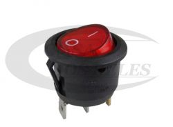 Chave Gangorra c/ Lampada KCD1-106N 3T Vermelho