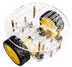 Chassi Robótico Do Carro Plataforma Dual motor  Acrílico R2 W