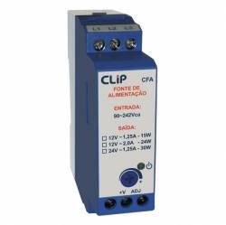 Fonte chaveada Clip  CFA2412 1,2A 24VCC