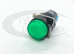 Botao Pulso AL6Y-M 16MM Redondo C/Led Verde
