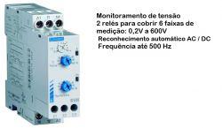 Rele Eletromecânico controle de tensão Crouzet De Trilho Euh 84872034 230vac 8a