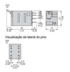 Rele schneider RXM2AB2ED 48VCC 2REV.12AMP C/LED