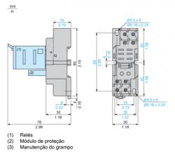 Base schneider RPZ2F P RELES RPM2