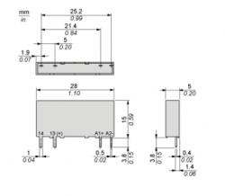 Rele de estado sólido schineider SSL1D02BD 24VDC 3,5A 15-30VDC