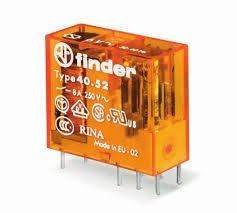 Rele Finder  4061.70  12/24/48VCC  OU 24/110/220VAC 16Amp 1Rev. p/circuito impresso