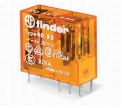 Rele Finder  4052.70  06/12/24/48VCC  OU 12/24/48/110/220VAC 8Amp 2Rev. p/circuito impresso