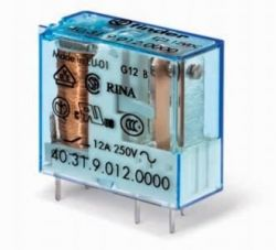 Rele Finder  4031.70  06/12/24/48/60VCC  OU 06/12/24/110/220VAC 16Amp 1Rev. p/circuito impresso