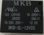 Rele p/circuito impresso MKB3L-12VCC