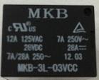 Rele p/circuito impresso MKB3L-3VCC