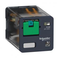 Rele Schneider RUMC22P7  230VAC 10AMP.2REV  C/LED /BOTÃO DE TESTE