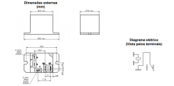 Rele de pôtencia 30/40A  MKB3H 24VAC