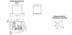 Rele de pôtencia 30/40A  MKB3H 220VAC
