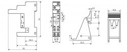 Base  PRT7-1B P/ Reles - 5 pinos  Metaltex