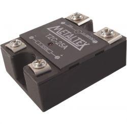 Rele estado sólido TZC25A  OU  TZC40A   IMP. 4 A 32VCC  -  OUT. 48 - 440VCA METALTEX