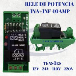 Acoplador a Rele BB1RF 12VCC - 24VCC  - 127VAC - 220VAC 40A 1NA-1NF