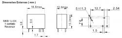 Rele p/circuito impresso MKB1J-12VCC  1REV.10A
