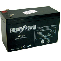 Bateria Chumbo Acido Selada Energy Power EP12V - 7AH 12V